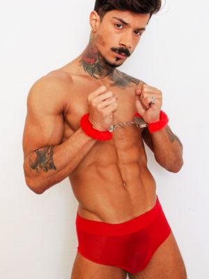 Cueca Transparente Vermelha