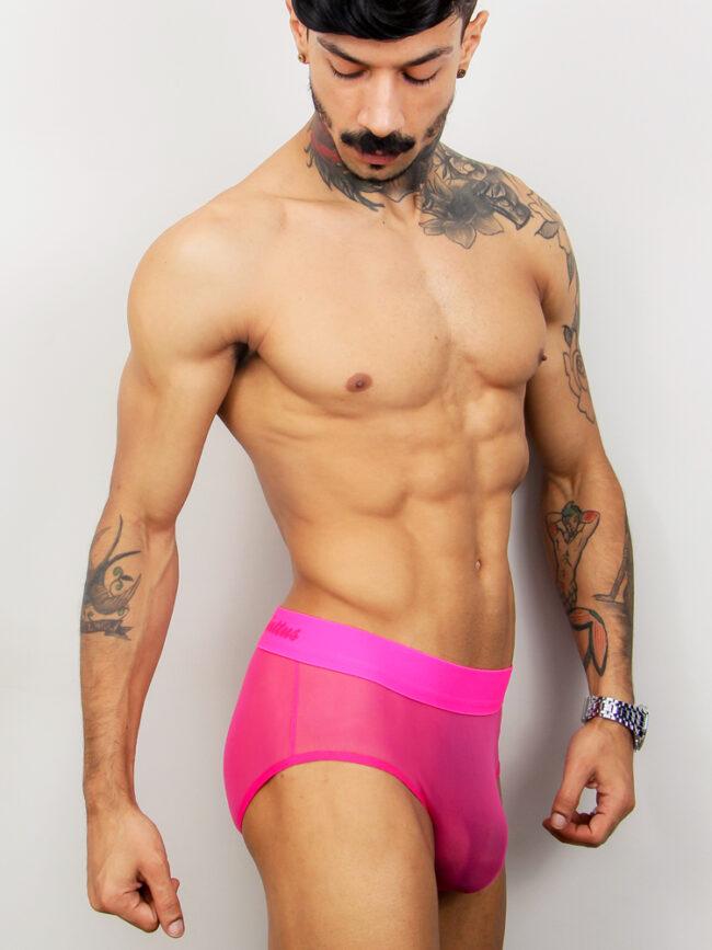 Cueca Transparente Pink Rosa